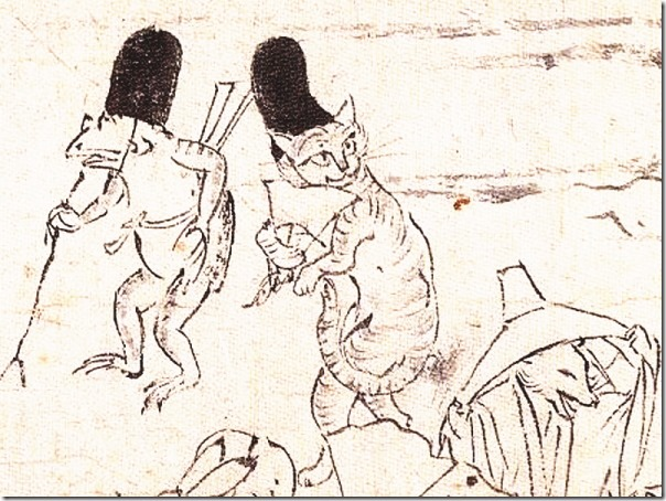 鳥獣戯画 烏帽子猫